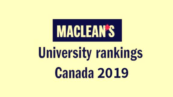 麦考林2019年加拿大大学排名 加拿大教育中心