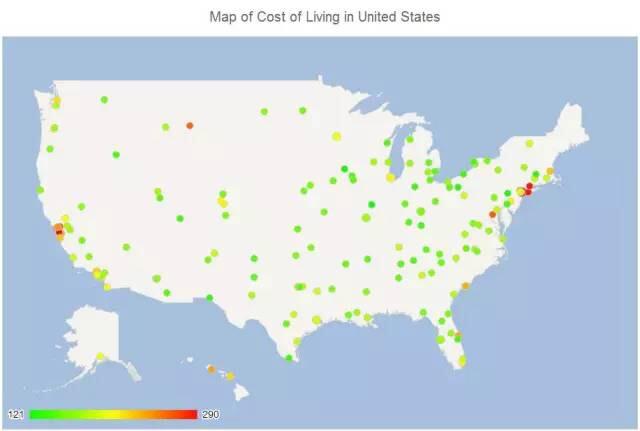 美国留学费用,美国留学生活成本,美国留学城市,美国大学费用