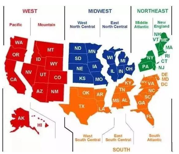 美国留学选校指南,美国9大区分析特点,美国教育环境,美国大学优势专业,如何科学选校