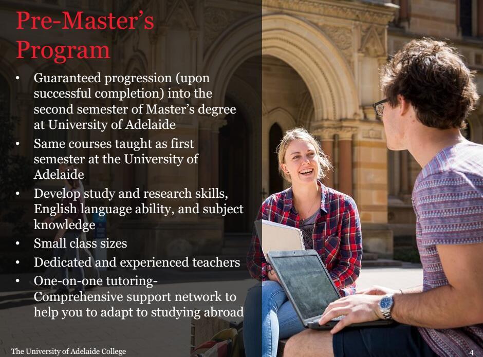 阿德莱德大学,澳洲大学硕士预科,八大硕士预科,阿德莱德大学硕士预科