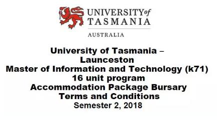 塔斯马尼亚大学,信息技术硕士学位,IT硕士奖学金,塔斯马尼亚大学奖学金
